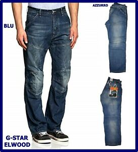 jeans g-star raw uomo denim elwood chiari g star larghi loose hip hop 50 w36