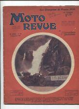 Moto Revue N°391  ; 6 septembre 1930  : technique bloc moteur ou boite séparée