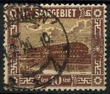 Saar 1922 SG#91, 40c Pottery Mettlach Used #D14723