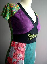SALE DESIGUAL Designer Kleid 36 38 Sommerkleid Hippiekleid Boho Stretch Vintage