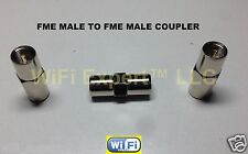 1 x FME male Plug to FME male Plug RF Coax Adapter Connector Gender Changer