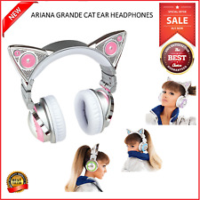Limited Edition Ariana Grande Wireless Bluetooth Cat Ear Headphones Built-in