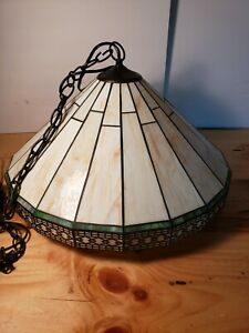 SPECTRUM Tiffany Style Pendant Light Kitchen Bar Stained Glass  Hanging Lamp