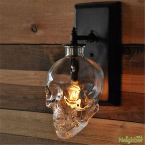 New Retro glass Skull Wall Lamps Loft Corridor LED Wall lights Bar Club lighting