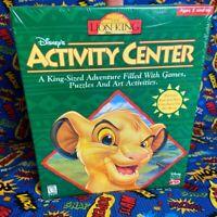 Disney's The Lion King Activity Center PC Game 1995 CD-Rom Windows Macintosh