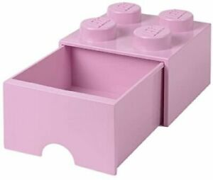 LEGO 4 Knobs and 1 Drawer Light Royal Blue Stackable Storage Brick Drawer NEW