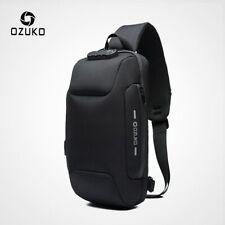 OZUKO 2019 New Multifunction Crossbody Bag for Men Anti-theft Shoulder Messenger