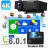 4K Wifi Android 6.0 LED Projector 1080p Full HD Home Theater BT HDMI/USB/AV 8GB