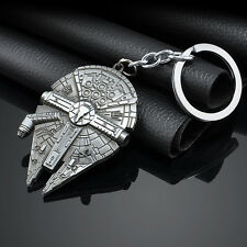 Star Wars Millennium Falcon Metal Keyring Keychain Silver Color Charm Gift h9s