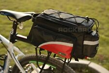 Rockbros Bike Rear Carrier Bag Bicycle Rear Pack Trunk Pannier Black Red