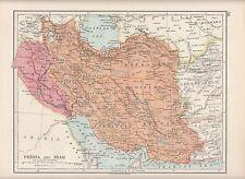1923 MAP ~ PERSIA & IRAQ ~ KHURASAN KERMAN FARSISTAN