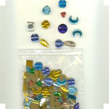 Vintage Glass Jewels Asst Styles & Colors 225 + Asst Pieces....Free Shipping USA