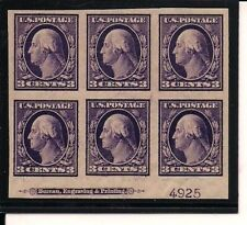 #345 PB  1909 3 CENT IMPERF ISSUE VF-NH (240.00)