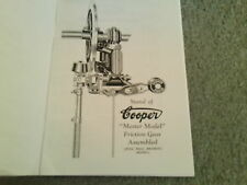VINTAGE COOPER E-B HANDPIECE & GRINDING COMBS MASTER MODEL SHEARING  BOOKLET