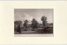 Antique matted print : Mad river near Springfield Ohio 1860 / steel engraving