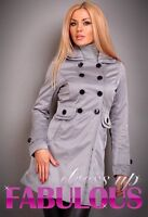 SEXY SIZE 6 8 10 12 WOMEN'S JACKET TRENCH COAT CASUAL HOT DESIGNER XS S M L
