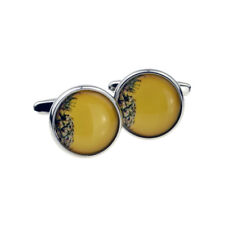Yellow Pineapple Fruit Design Cufflinks Presented in a Box - X2BOC281