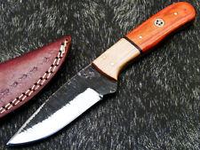 Custom Hand Forged Railroad Spike Carbon Steel Fixed Skinning Blade Knife 1138