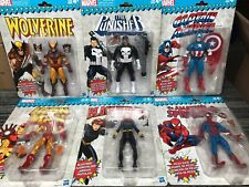 Marvel Legends vintage wave set wolverine black widow punisher spider-man