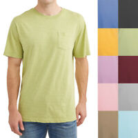 Men's Solid Colors Short-Sleeve Pocket Tee Shirts 100% Soft Cotton Comfort Gifts