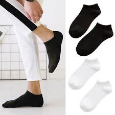Nuevo Unisex Hombres Color Puro Calcetines Cortos Simple Suave Primavera Verano
