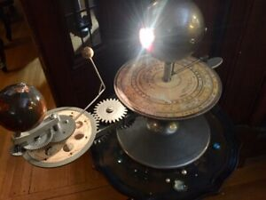 STEAMPUNK ORWELLIAN SUN MOON EARTH MODEL TELLURION ORRERY SOLAR SYSTEM ON SALE