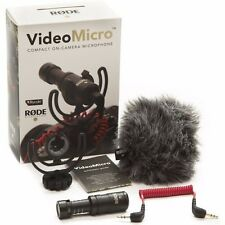 Rode VideoMicro Compact On-Camera Recording Microphone fr Canon Nikon Lumix Sony