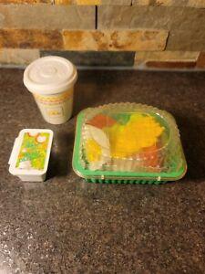 Vintage Fisher Price Play Food - McDonald's Salad & Coffee