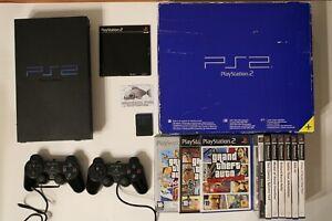 Console PS2, Play Station 2 Fat Boxata + 10 Giochi PS2
