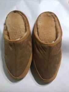 LL Bean Genuine Shearling Slides Men's Size 12 Slippers Brand New