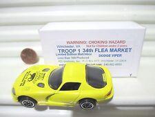 Matchbox 2004 Troop 1 Flea Market Yellow Dodge Viper GTS Car Mint in C9 Mint Box