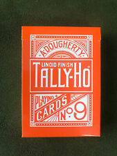 Tally Ho No9 Fan Back Playing Cards LIMITED Orange Edition! RARE Sold out