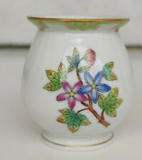 HUNGARY HEREND QUEEN VICTORIA BUTTERFLY HAND PAINTED SMALL PORCELAIN VASE