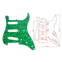 Guitar Pickguard Plate For Fender ST Strat Parts Green Pearl SSS 3 Ply 11 Hole