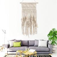 Hanging Bohemian Decor Hand Woven Wall Tapestry Knitted Tassel Macrame Boho Chic
