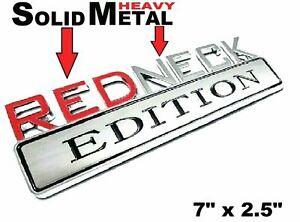 METAL Redneck Edition Emblem HIGHEST QUALITY ON EBAY BMW Caterpillar Cleveland