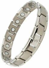 Silver Smarter Lifestyle Elegant Titanium Magnetic Pain RSI Joint Wrist Tendinitis Therapy Bracelet 709619021214