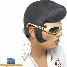 Elvis Headpiece Pop Star 1950's King Of Pop Men's Fancy Dress Costume