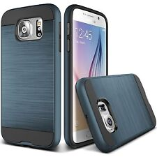 Samsung Galaxy S7 Slim Hybrid Brushed Case Cover +Screen Protector Dar