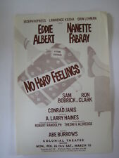 1970's No Hard Feelings POSTER Eddie Elbert Nanette Fabray Conrad Janis - Boston