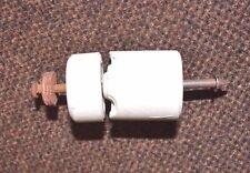 10 VINTAGE ANTIQUE CERAMIC KNOB & TUBE ELECTRICAL INSULATOR WHITE PORCELAIN 7117