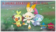 Grookey Scorbunny Sobble GMAX Pack✨Shiny✨6IVs HA Pokemon Sword and Shield