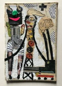 Bast - Original Mixed Media on Canvas not Fairey, obey, kaws, faile, invader