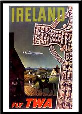 Ireland TWA 1950s A3 vintage retro travel & railways posters Wall Decor #3