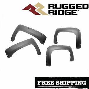 Rugged Ridge Pocket Style Fender Flare Kit For 2007-2011 Silverado 2500 3500