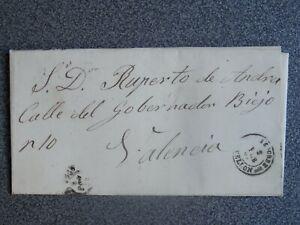 CARTA COMPLETA AÑO 1869 SEGORBE CASTELLÓN A VALENCIA EDIFIL 98
