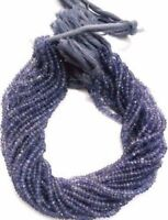 "1 Strand Natural iolite Rondelle 3.5-4mm Faceted Gemstone Beads 13""Inch,Blue"