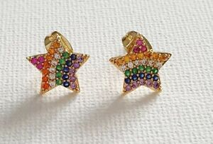18k Gold Plated Rainbow CZ Star Studs Other Bloggers...