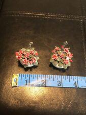 Miniature Dollhouse Fairy Garden Hanging Red Flower Pots House Plant Decoration