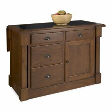 Home Styles Aspen Granite Top Kitchen Island with Drop Leaf